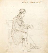 Frederic Chopin. Rys. Eliza Radziwiłłówna - 1829 r.